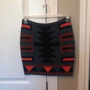 Rachel Roy Tribal Print Skirt